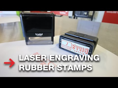 Laser Engraving Rubber Stamps | Customizing Stamps With Trodat