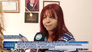 Se realizó en Córdoba la mesa nacional contra la violencia institucional