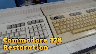 Commodore 128 Complete Restoration and Board Repair.