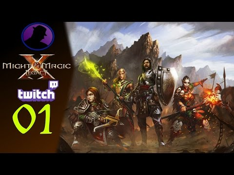 Let's Play Might & Magic X Legacy - (From Twitch) - Part 1 - Very Long Party Creation!