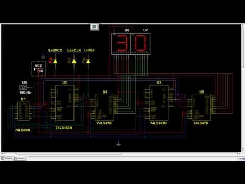 Simple 4026 Manual Digital Counter Circuit With Reset And Pause