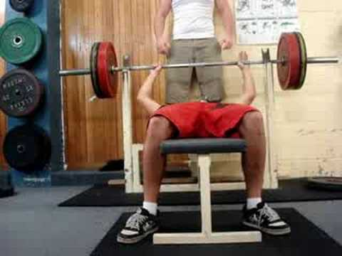 Bench Press 100kgs 1 rep max - YouTube