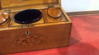 Superb George Iii Inlaid Satinwood Tea Caddy