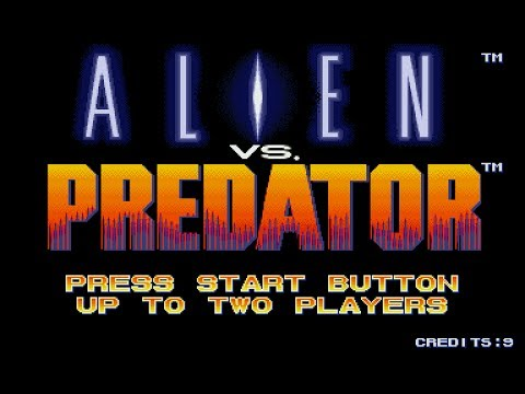 Alien vs. Predator - Capcom 1994 (Full Game Play)