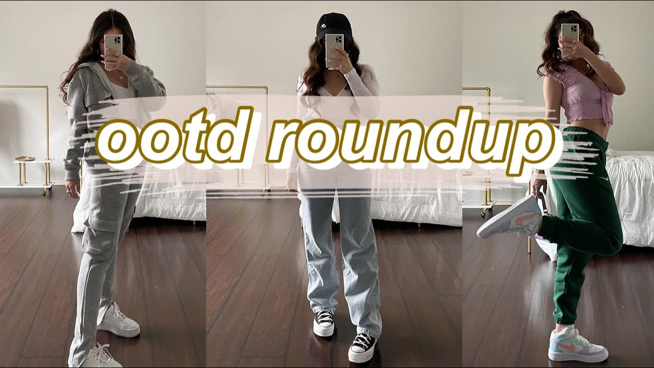 ootd roundup | trendy outfit ideas 2021 + outfit lookbook 2021 | outfit inspo + spring outfit ideas