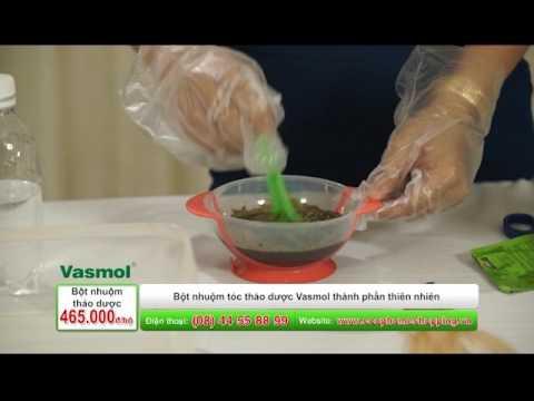 Cách sử dụng bột nhuộm Vasmol phủ bạc