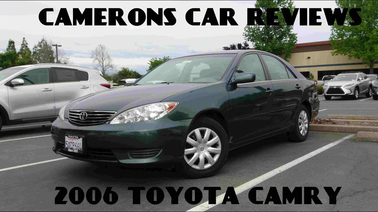 2006 toyota camry le 2 4 l 4 cylinder review camerons car reviews youtube. Black Bedroom Furniture Sets. Home Design Ideas