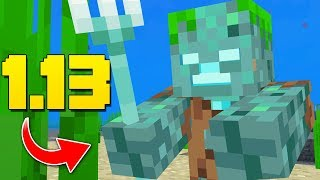 "NEW Minecraft ""DROWNED"" Mob! Shipwrecks, New Items (Minecraft 1.13 Snapshot Update)"