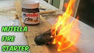 Nutella Fire Starter - Survival Hack #55