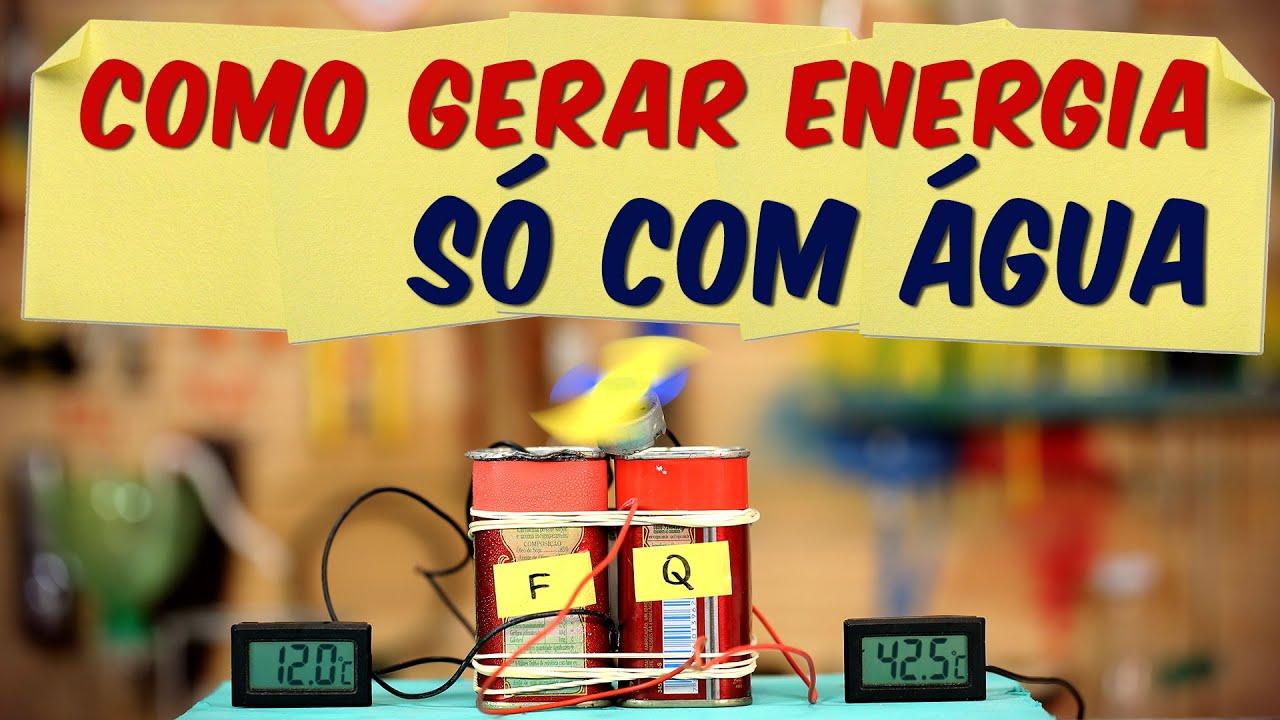 2df157afce3 COMO GERAR ENERGIA só com água (GERADOR TERMOELÉTRICO) - YouTube