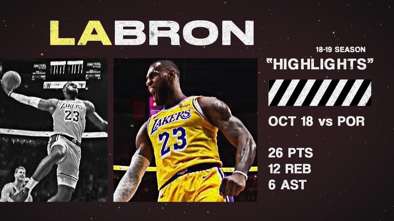 7417e26e4 LeBron James Full Highlights vs Blazers 10.18.2018