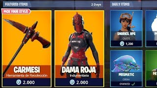 New skin fortnite Red Lady /FORTNITE