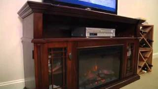 "Chimneyfree Wallace 26""  Entertainment Center In Empire Cherry 26mm1264epc"