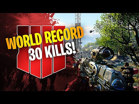 CoD Blackout | WORLD FIRST 30 KILL SOLOS WIN RECORD