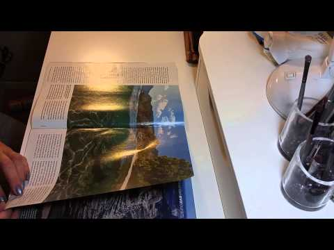 ASMR-Long Page turning book and Smithsonian Magazines-Silent (no talk)