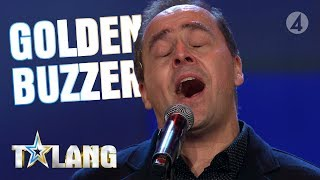 Micke Holm delivers a world-class performance on Sweden't Got Talent