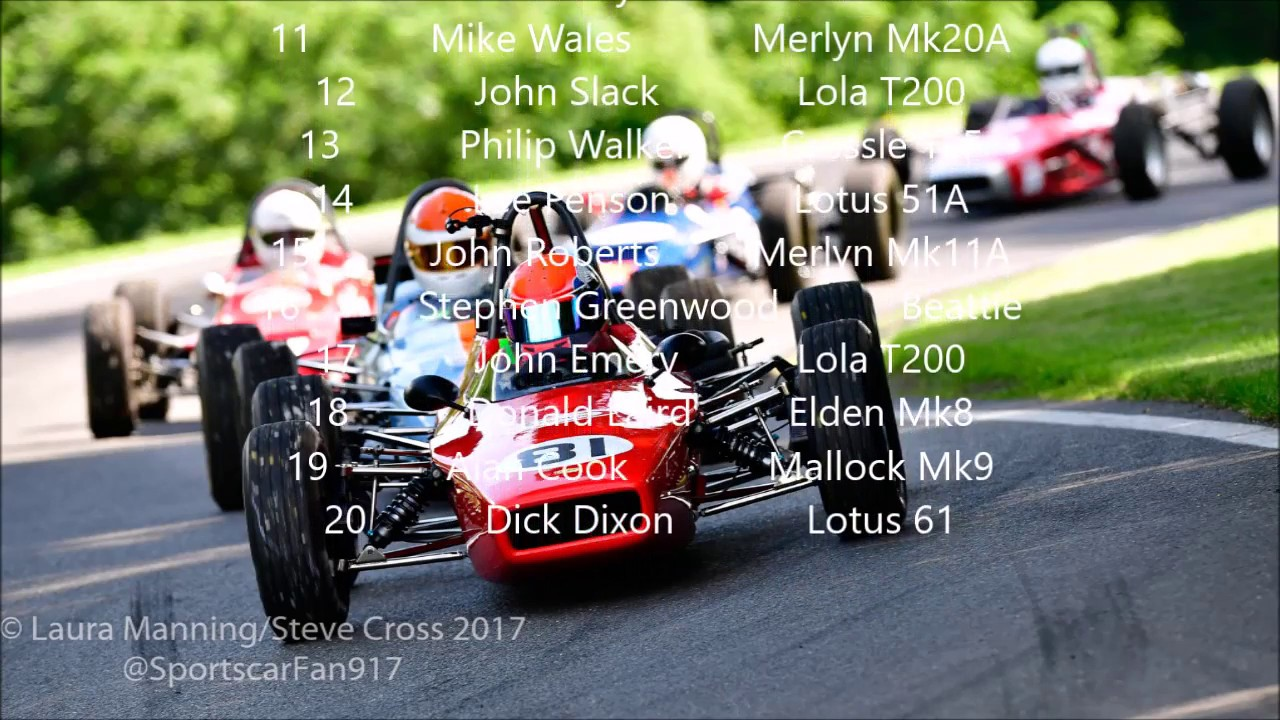 2017 Historic Formula Ford - Round 4 (Heat) at Cadwell Park - YouTube