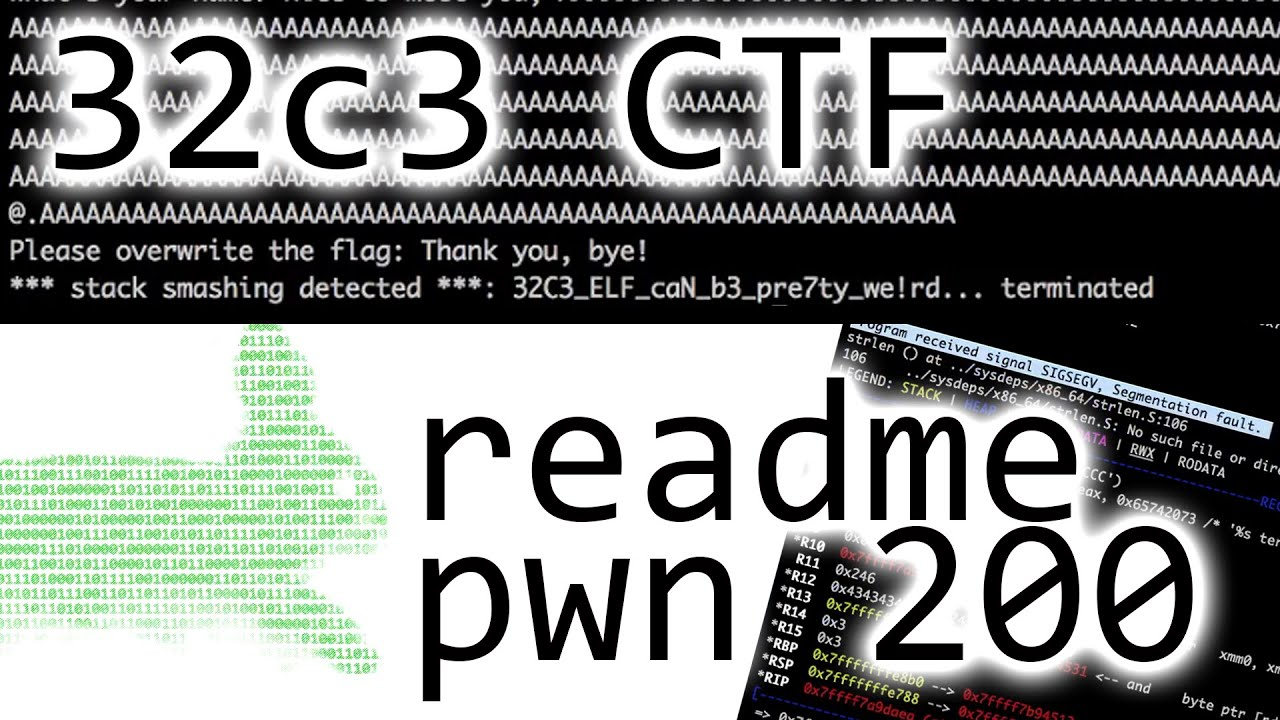 Abusing the exception handler to leak flag - 32C3CTF readme (pwnable 200)