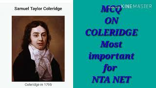 S.T. Coleridge MCQ FOR NET BY: PIYUSH SIR
