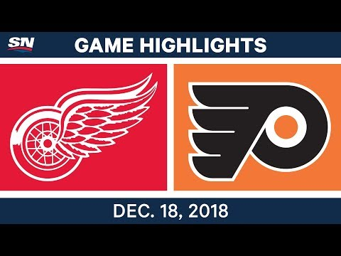NHL Highlights | Red Wings vs. Flyers - Dec 18, 2018
