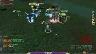 Psyborg vs Tolanog PvP in Archlord game