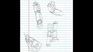 How to Draw G1 Megatron (The Arms Part 1)