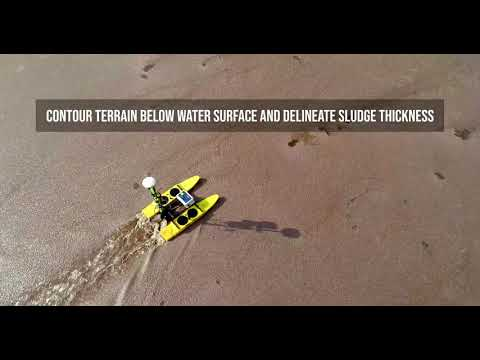 Drone Boat Applications - Hydrographic Survey and Sludge Volumes