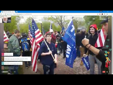 🔴 Live Oathkeepers Free Speech Rally at Boston Common - ' Antifa ' Kids Present (2)