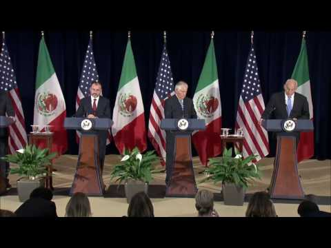 Secretary Tillerson and Secretary Kelly Press Availability with Mexican Foreign Secretary Videgaray