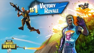 Fortnite Season Five Solo Victory Royal!! (Rocket Launcher Plays Gets Man Killed!!)