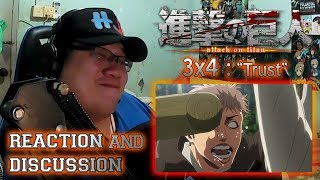 HORSE FACE ALERT | Attack on Titan 3x4 REVIEW, REACTION, & DISCUSSION (Shingeki no Kyojin Season 3)