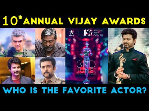 10th Annual Vijay Awards Winner - Who is the Favorite Actor?