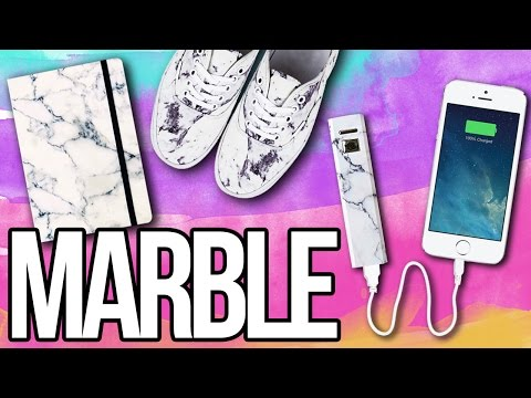 diy-marble-everything!-♥-shoes,-notebook,-iphone-charger-&-more!