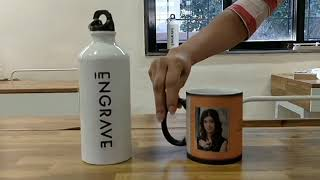 Engrave Personalised Magic Mug