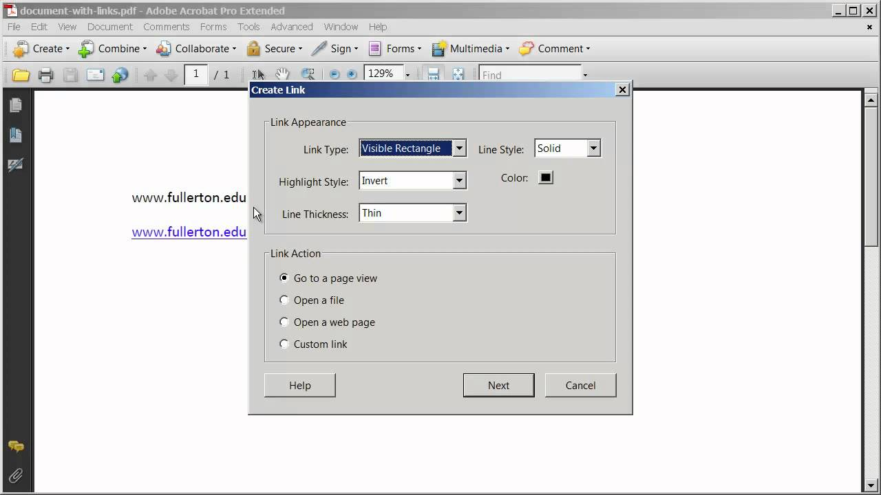 Create Link For Pdf File