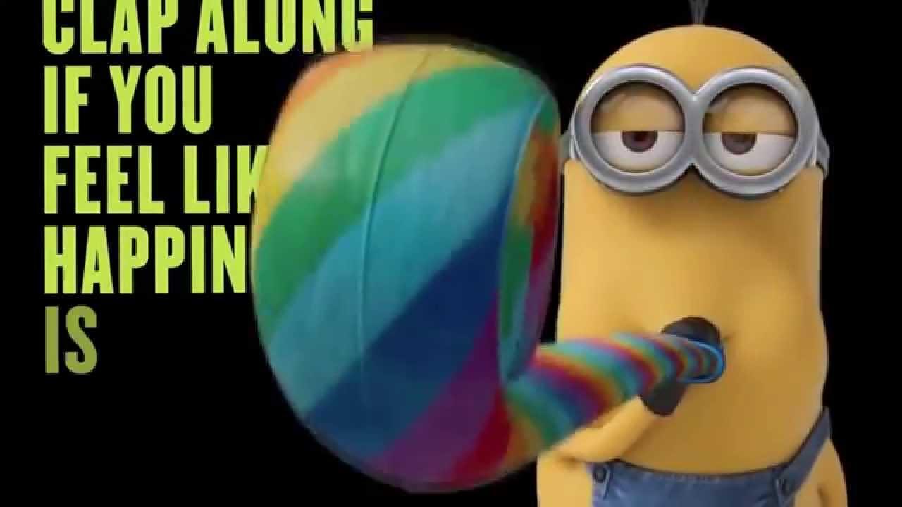 happy minions lyrics - 1280×720