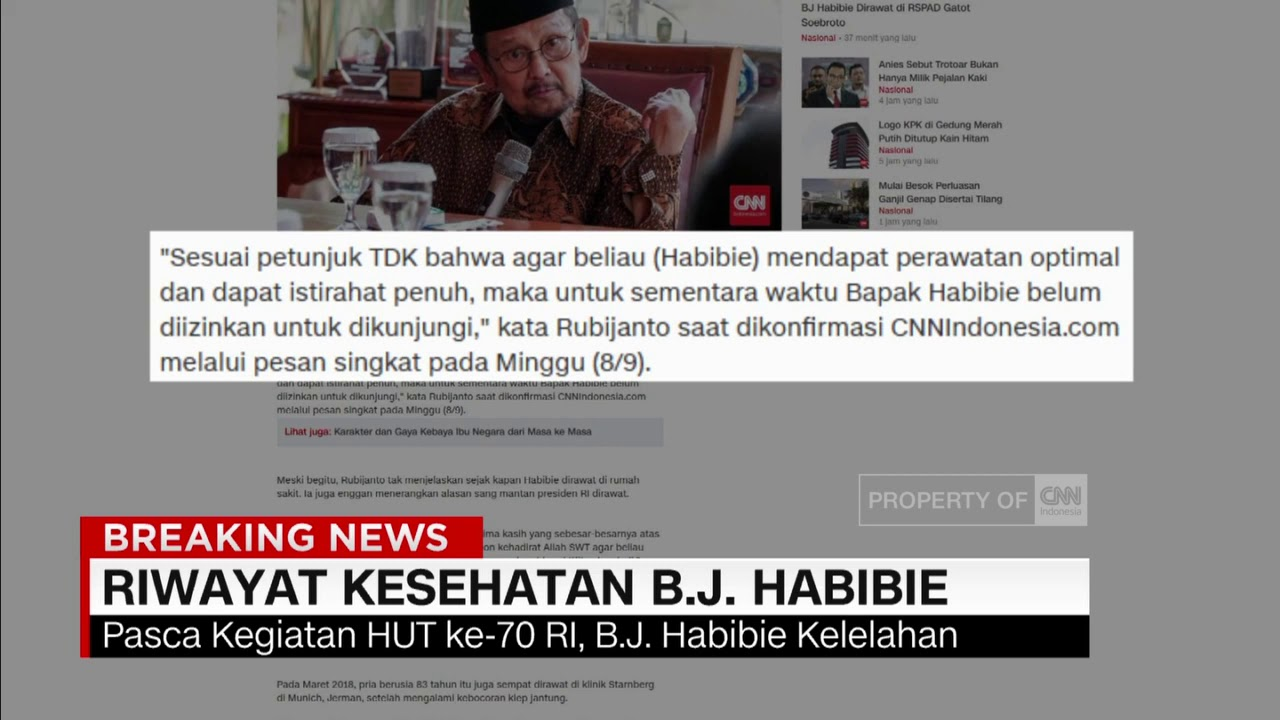 Riwayat Kesehatan Bj Habibie