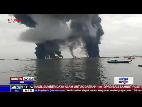 Kebakaran Melanda Teluk Balikpapan, Aktivitas Pelayaran Terhenti