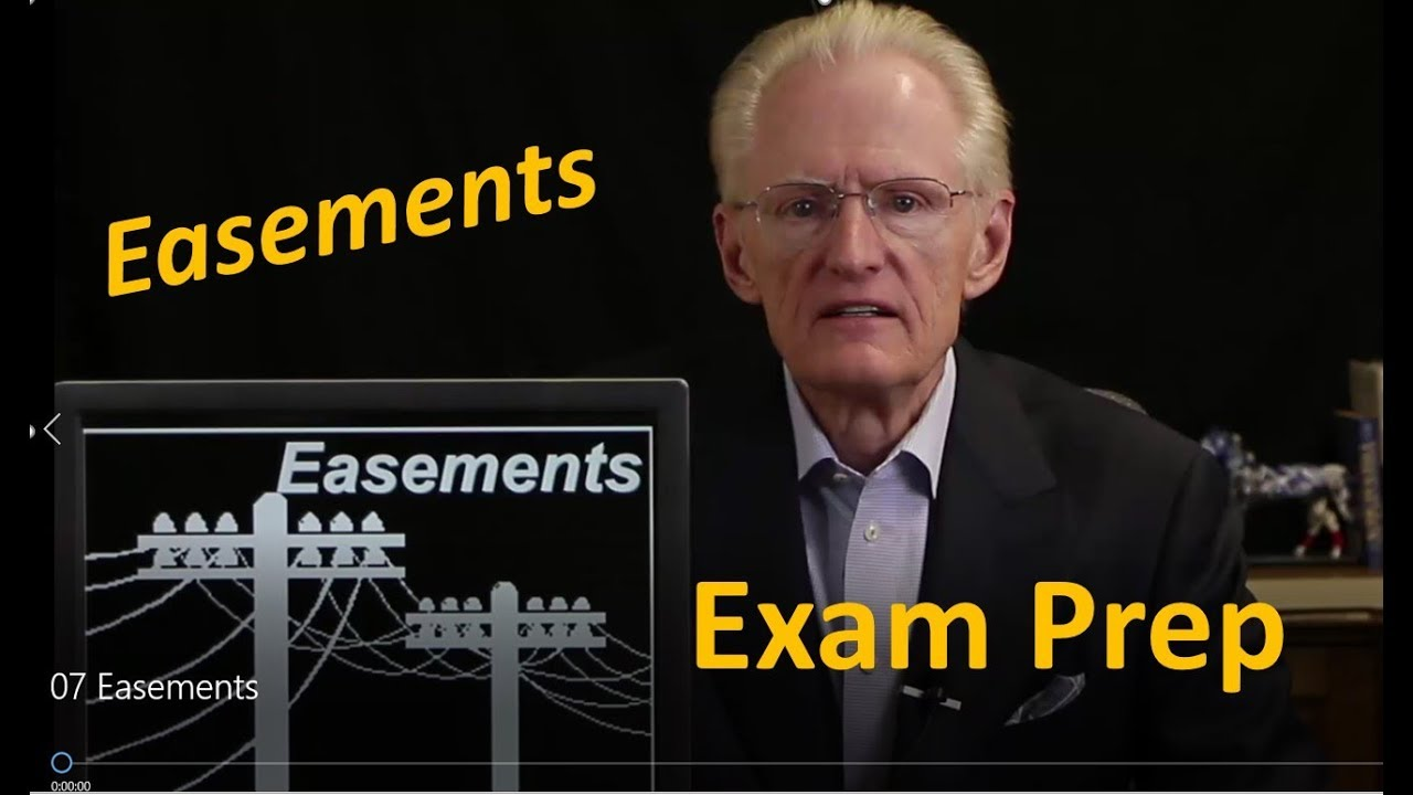 07 Easements: Arizona Real Estate License Exam Prep - YouTube