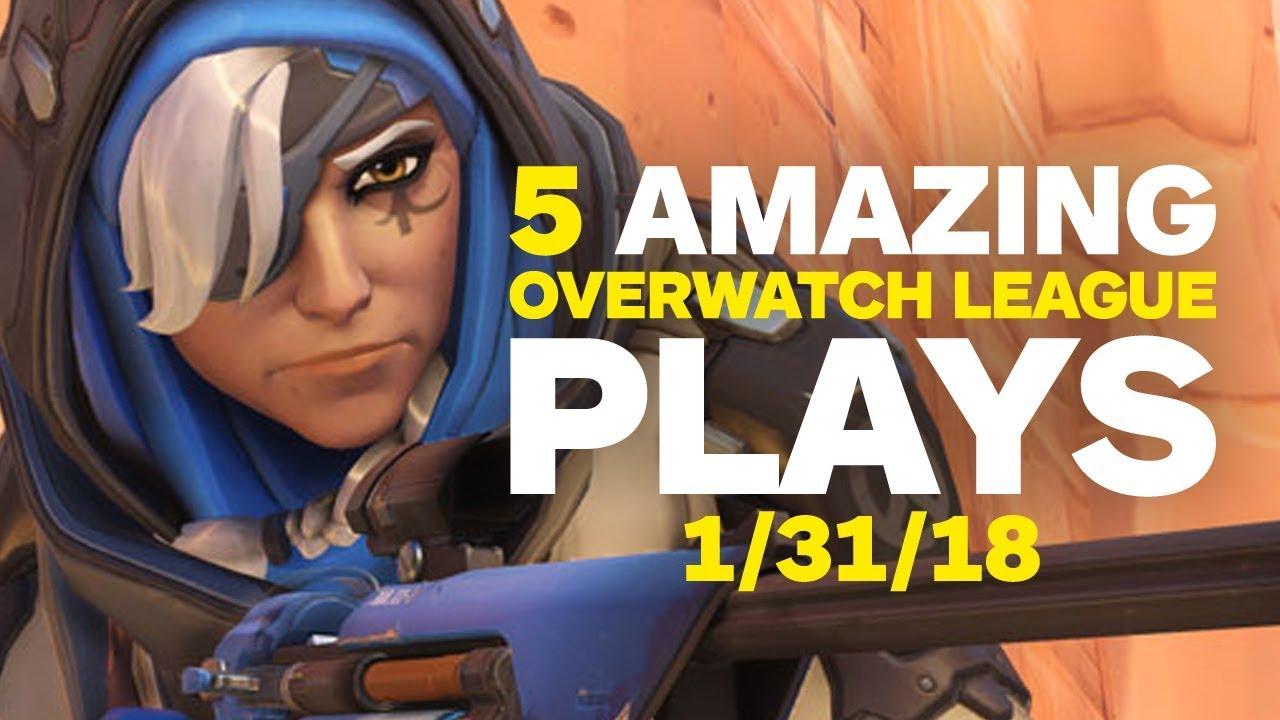 5 Amazing Overwatch League Plays (01/31/18)