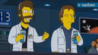 the Simpsons knows spaceX is a hoax