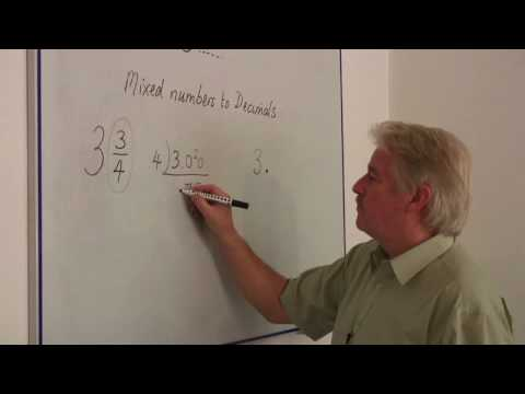 Math Calculations & Conversions : Changing Mixed Numbers Into ...