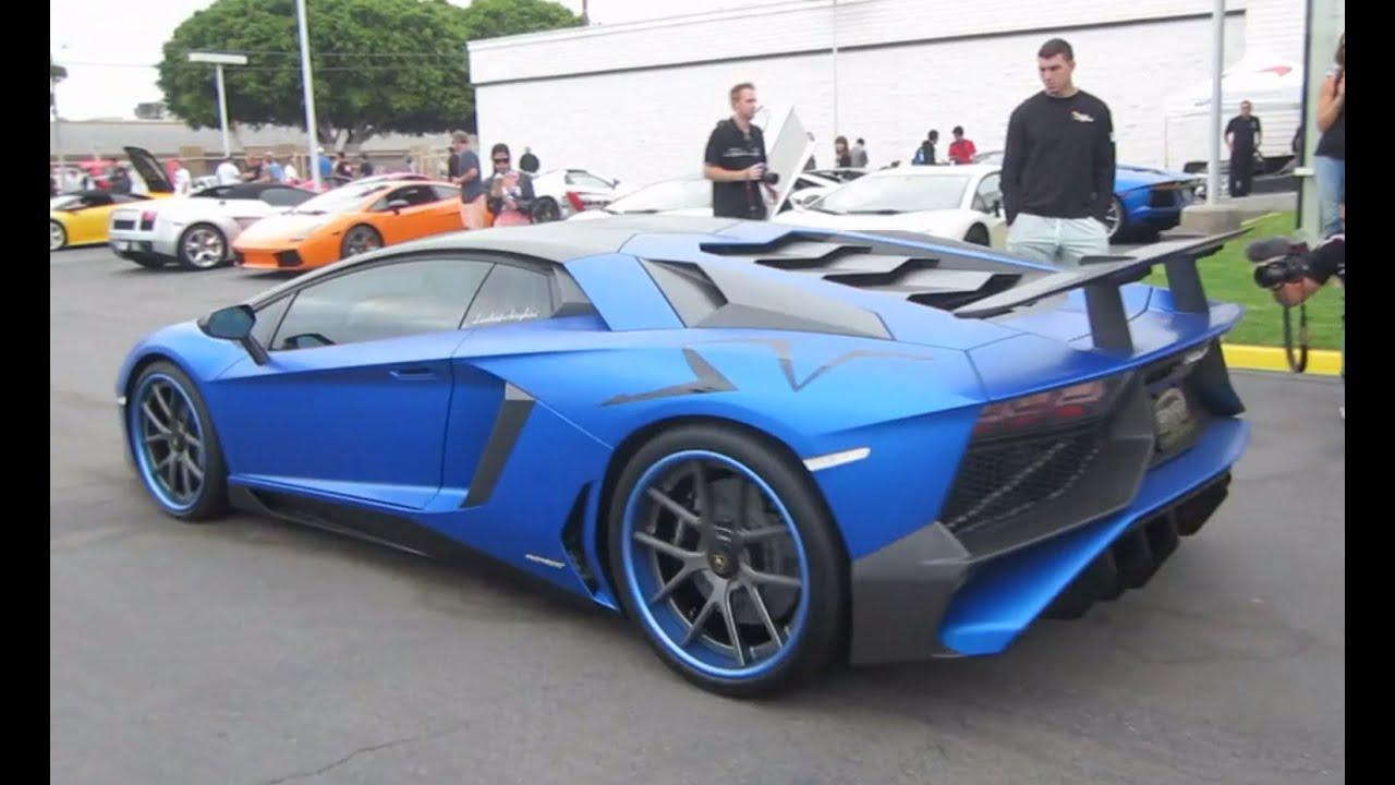 Custom Lamborghini Aventador Sv W Startup Rev Sound