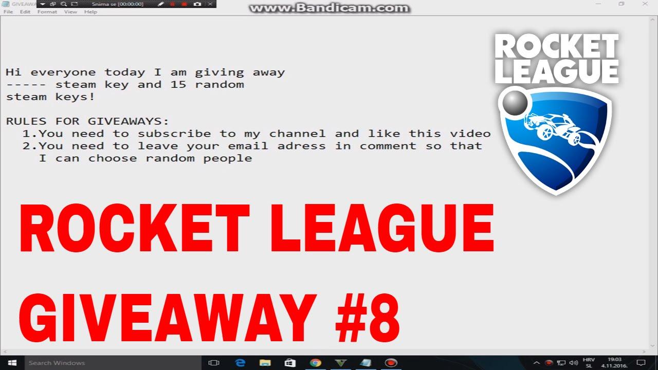 Rocket League Steam Key Giveaway