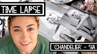 "Time Lapse Painting | ""Chandelier"" - Sia"