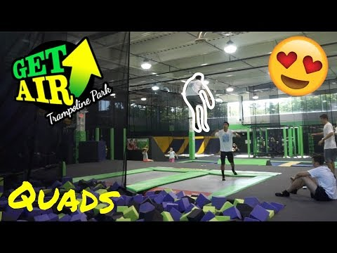 AWESOME NEW TRAMPOLINE PARK!! (Get Air Stamford, CT)
