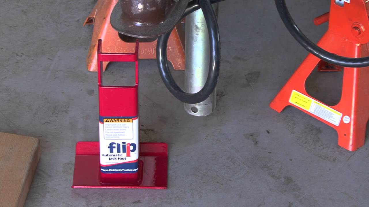 How To Install A Fastway Flip Jack Foot On Trailer Youtube Electric Tongue Wiring