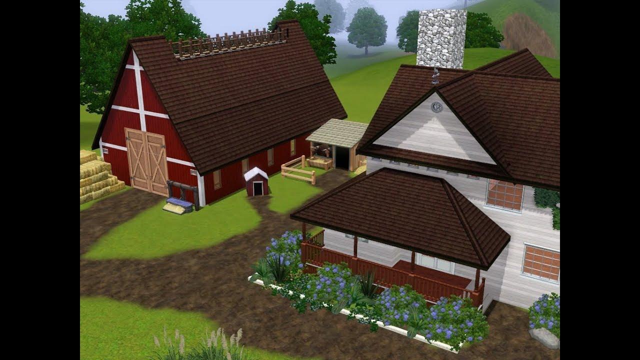 Los Sims 3 Casas 1 Granja Moderna Youtube