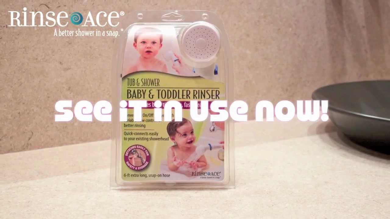 Tub & Shower Baby and Toddler Rinser by Rinse ace for bathing your ...