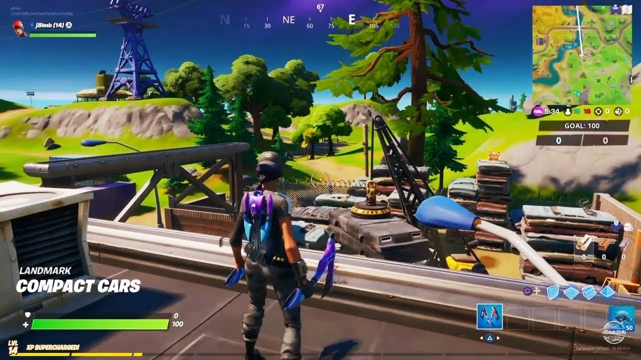 Fortnite Dance At Compact Cars Lockies Lighthouse A Weather Station Forged In Slurp Challenges